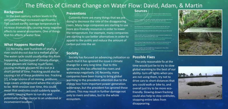 Climate Change and Water Flow